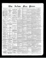 Acton Free Press (Acton, ON)9 Aug 1900