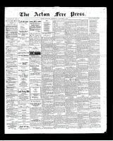 Acton Free Press (Acton, ON)1 Nov 1900
