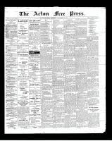 Acton Free Press (Acton, ON)8 Nov 1900