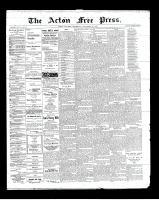 Acton Free Press (Acton, ON)29 Nov 1900