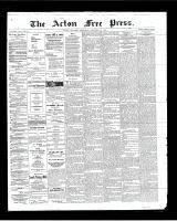Acton Free Press (Acton, ON)13 Dec 1900