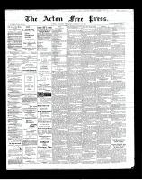 Acton Free Press (Acton, ON), February 21, 1901