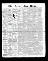Acton Free Press (Acton, ON), May 30, 1901