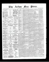 Acton Free Press (Acton, ON), August 8, 1901