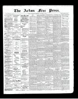 Acton Free Press (Acton, ON), October 31, 1901