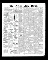 Acton Free Press (Acton, ON)6 Nov 1902