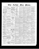 Acton Free Press (Acton, ON)22 Jan 1903