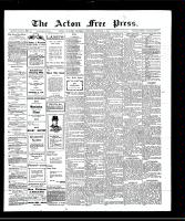 Acton Free Press (Acton, ON), October 3, 1907