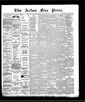 Acton Free Press (Acton, ON), January 9, 1908