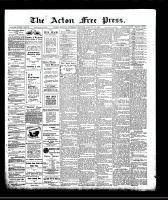 Acton Free Press (Acton, ON)23 Jan 1908
