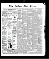 Acton Free Press (Acton, ON)8 Oct 1908