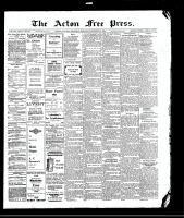 Acton Free Press (Acton, ON)19 Nov 1908