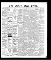 Acton Free Press (Acton, ON), January 21, 1909