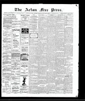 Acton Free Press (Acton, ON)28 Jan 1909