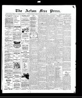 Acton Free Press (Acton, ON)8 Apr 1909