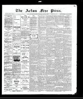 Acton Free Press (Acton, ON)5 Aug 1909