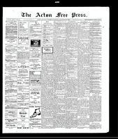 Acton Free Press (Acton, ON), November 25, 1909
