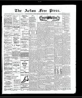 Acton Free Press (Acton, ON)30 Dec 1909