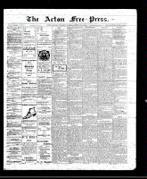 Acton Free Press (Acton, ON), February 3, 1910