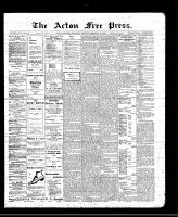 Acton Free Press (Acton, ON)17 Feb 1910