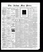 Acton Free Press (Acton, ON)12 May 1910