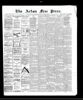 Acton Free Press (Acton, ON), November 10, 1910