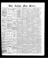 Acton Free Press (Acton, ON)15 Dec 1910