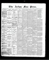 Acton Free Press (Acton, ON)26 Jan 1911