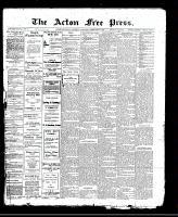 Acton Free Press (Acton, ON)9 Feb 1911