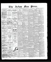 Acton Free Press (Acton, ON)9 Mar 1911