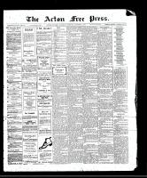 Acton Free Press (Acton, ON)12 Oct 1911