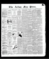 Acton Free Press (Acton, ON)9 Nov 1911