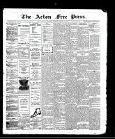 Acton Free Press (Acton, ON), January 11, 1912