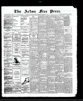 Acton Free Press (Acton, ON)1 Feb 1912