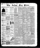 Acton Free Press (Acton, ON)1 Aug 1912