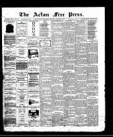 Acton Free Press (Acton, ON)30 Oct 1913