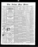 Acton Free Press (Acton, ON)11 Aug 1921