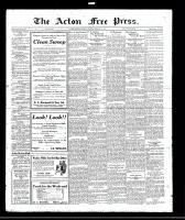 Acton Free Press (Acton, ON)2 Feb 1922