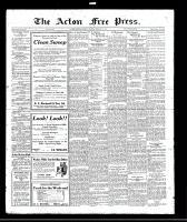 Acton Free Press (Acton, ON), February 2, 1922