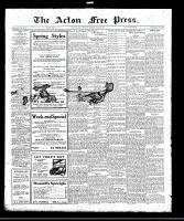 Acton Free Press (Acton, ON), March 9, 1922