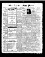Acton Free Press (Acton, ON)18 Jan 1923