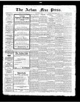 Acton Free Press (Acton, ON)1 Feb 1923