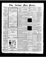 Acton Free Press (Acton, ON)10 May 1923
