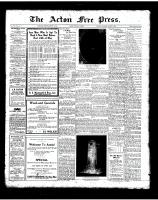 Acton Free Press (Acton, ON), August 2, 1923