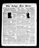 Acton Free Press (Acton, ON), January 20, 1938