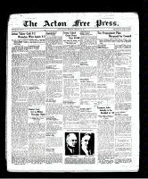 Acton Free Press (Acton, ON), February 3, 1938