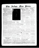 Acton Free Press (Acton, ON), September 8, 1938