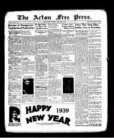 Acton Free Press (Acton, ON), December 29, 1938