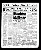 Acton Free Press (Acton, ON), September 12, 1940