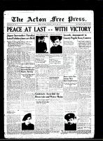 Acton Free Press (Acton, ON)16 Aug 1945